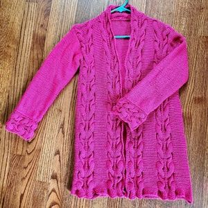 Sweaters - New hand knitted cabled cardigan size xs